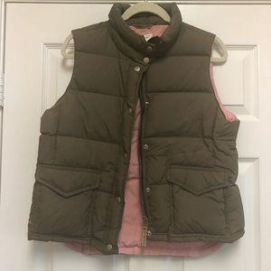 EUC J. Crew Down Puffer Vest- Petite Size M